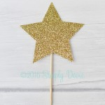 Gold Star, Twinkle Star Cupcake Topper