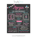 Simply Dovie A2 First Birthday Chalkboard Girl