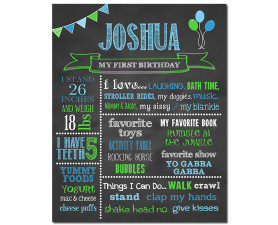 First Birthday Chalkboard,birthday chalkboard,first birthday,party,decorations,birthday sign,birthday,