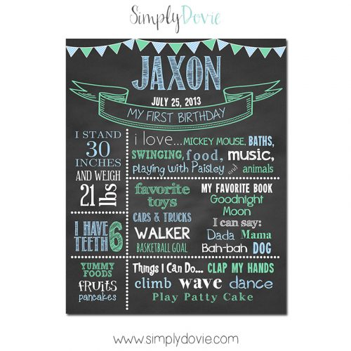 First Birthday Chalkboard,birthday chalkboard,first birthday,party,decorations,birthday sign,birthday,theme