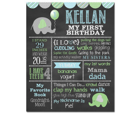 Elephant Birthday Chalkboard,little peanut birthday party,lil peanut,little peanut,elephant birthday,First Birthday Chalkboard,birthday chalkboard,first birthday,party,decorations,birthday sign,birthday,theme