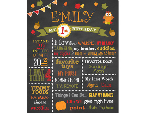 Woodlands Birthday Chalkboard,owl birthday,First Birthday Chalkboard,birthday chalkboard,first birthday,party,decorations,birthday sign,birthday,theme