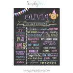 Simply Dovie Monkey Birthday Chalkboard Girl