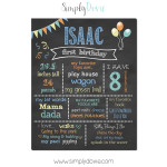 Simply Dovie Original Birthday Chalkboard Boy