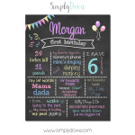 Simply Dovie Original Birthday Chalkboard Girl