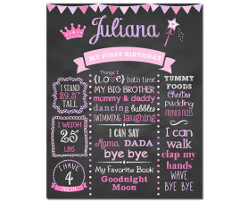 Princess Birthday Chalkboard,princess birthday party,princess party,princess birthday,birthday chalkboard,first birthday chalkboard,chalkboard signs,princess theme,party,birthday,decorations