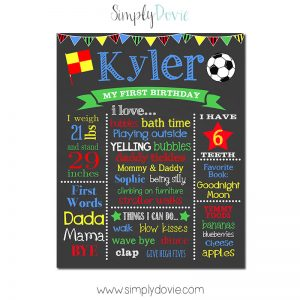 Soccer Birthday Chalkboard,soccer birthday party theme,soccer party,first birthday chalkboard,chalkboard signs,chalkboard posters,birthday chalkboard,sports,birthday,party,decorations