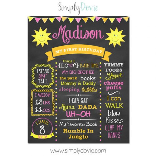 You are my sunshine birthday chalkboard,you are my sunshine birthday party,sunshine party theme,birthday chalkboards,first birthday chalkboard,party,theme,party decorations,poster,sign