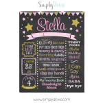Simply Dovie Twinkle Star Birthday Chalkboard Girl