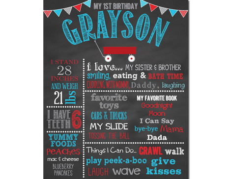 Lil' Red Wagon Birthday Chalkboard,little red wagon birthday,party,birthday chalkboard,chalkboard sign,chalkboard poster,first birthday chalkboard,wagon birthday,party,theme,party decorations