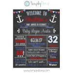 Anchor Baby Shower Chalkboard