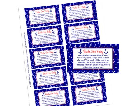 Nautical Anchor Books for Baby - Nautical Baby Shower