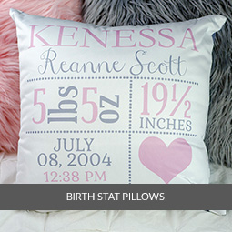 Newborn Birth Stat Pillows
