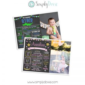 birthday chalkboard,photo card,birthday,