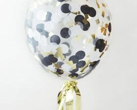 confetti balloons,clear balloons,party balloons,wedding balloons,confetti balloon,black & gold balloon,wedding balloons