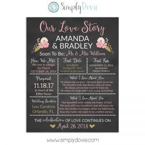 Our Love Story Bridal Shower Sign
