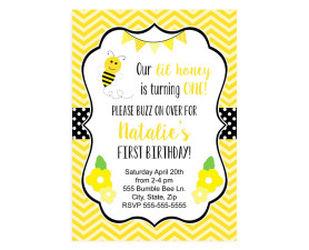 bumble bee,birthday party,inviations,invite,party