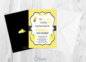 bumble bee,bumblebee,birthday,invites,invitations,theme,party