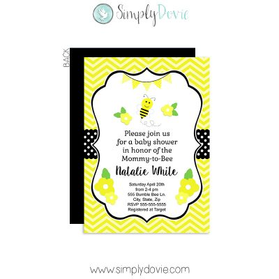 bumble bee baby shower,bumble bee,bumblebee,inviations,invites,party,mommy to be