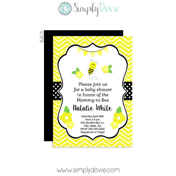 Bumble Bee Baby Shower,bumble Bee,bumblebee,inviations,invites,party,