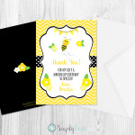 bumble bee,bumblebee,birthday,thank you,card,party,decorations,invitation