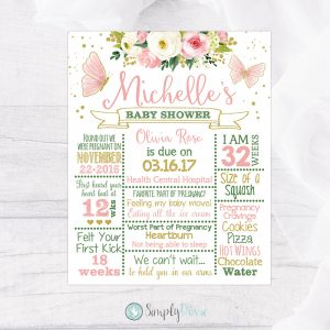 Butterfly Baby Shower Sign - Butterfly Baby Shower Decorations