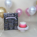 Chic Polka Dot Birthday Chalkboard
