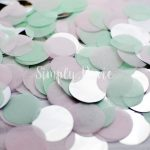 Light Pink, Mint, Silver Confetti