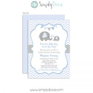 boy,baby shower,elephant,invitation,invite,new baby