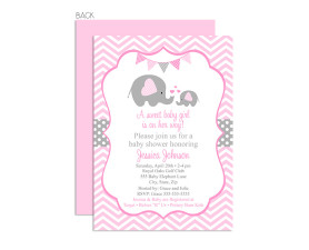 elephant baby shower,girl baby shower,baby shower,invitations,invite,inviation,elephant