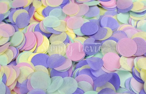 Pink, Purple, Yellow and Mint Confetti