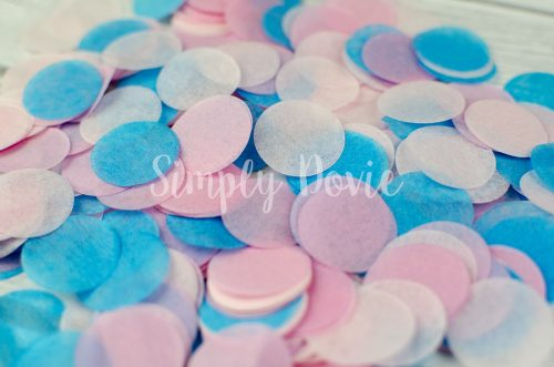 Pink and Turquoise Confetti