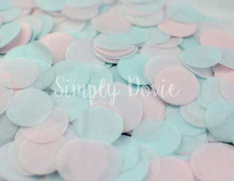 Light Pink and Light Aqua Confetti