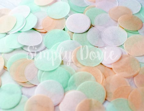Light Pink, Peach, Mint Confetti