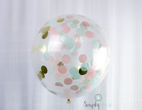 Peach, Mint, Gold Confetti Balloons