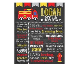 Fire Truck Birthday Chalkboard Sign,Fireman,Fire Truck,Birthday,Chalkboard Sign,Birthday Chalkboard,First Birthday,Chalkboard,Sign,Poster