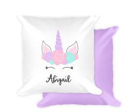 Floral Unicorn Pillow