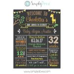 Safari Giraffe Babay Shower Chalkboard