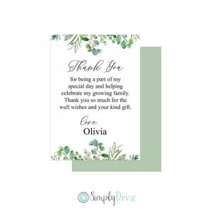 Greenery Baby Shower Thank You Cards 713