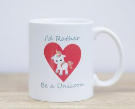 'd Rather Be A Unicorn Mug