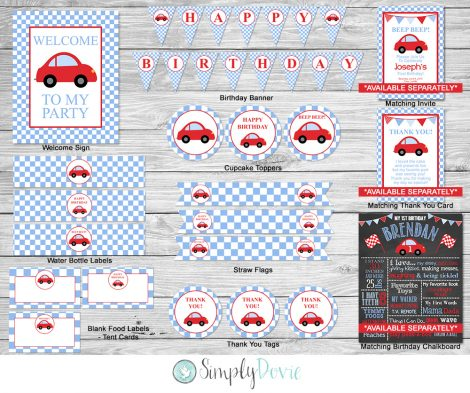 Little Red Car Birthday Party Theme