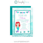 mermaid,mermaid birthday,birthday party,party,inviation,invite,under the sea