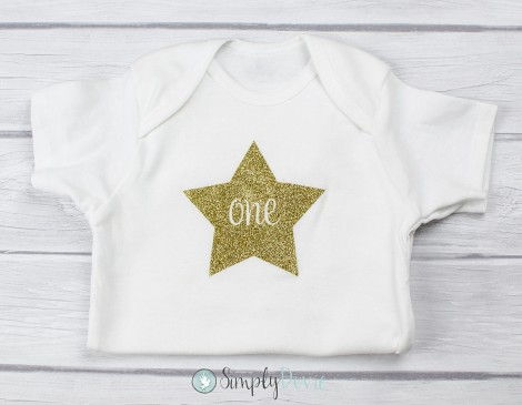 Gold Glitter,Twinkle Star,Star,Birthday,Shirt,Onsie,Bodysuit,baby,birthday,first birthday