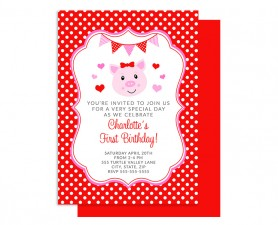 Hogs & Kisses Birthday Invitation
