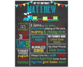 Train Birthday Chalkboard,train birthday party,first birthday chalkboard,birthday chalkboard,train party,birthday,theme,party,chalkboard signs,blackboard