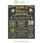 Bumble Bee Baby Shower Chalkboard Sign