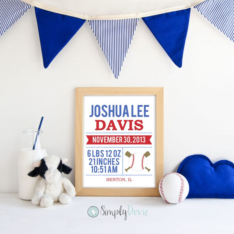Baseball Nursery Wall Art