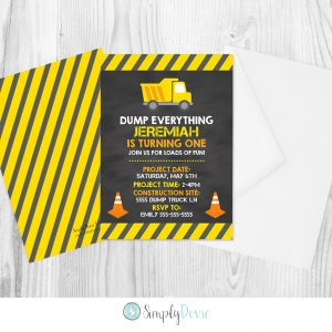 Construction Birthday Invitation, Construction Birthday Invite, Dump Truck Birthday Invitation, Dump Truck Birthday Invite, Boy Birthday Party