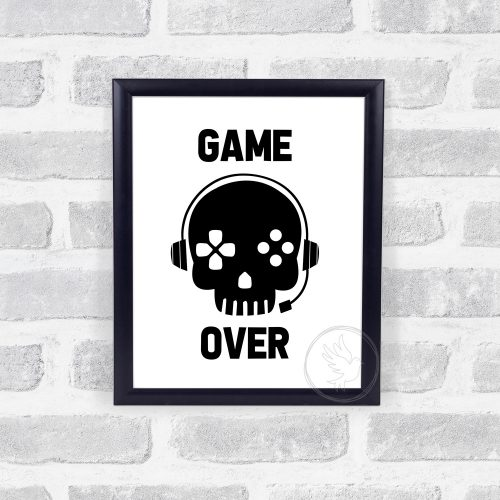 Game Over Wall Print, Teen Boy Wall Art, Teen Boy Bedroom Decor