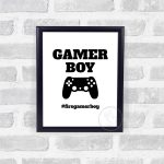 Gamer Boy Wall Print, Teen Boy Wall Art, Teen Boy Bedroom Decor